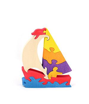 """Medinė dėlionė """"Laivas"""""""