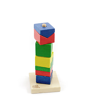 """Medinė piramidė """"Spalvingas bokštas"""""""