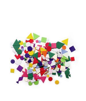 Minkštos klijuojamos geometrinių formų aplikacijos