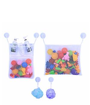 Vonios sieteliai maudynių priemonėms ir žaislams susidėti (2 vnt.)