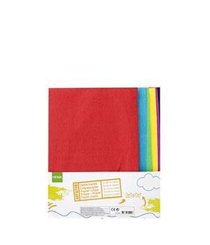 Krepinio popieriaus pakuotė (6 spalvų)