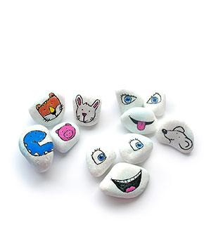 Personažiniai ir emociniai akmenėliai