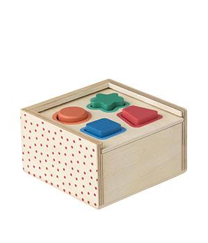 Medinė dėlionė-dėžutė