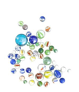 Stiklo rutuliukai (4 dydžių)