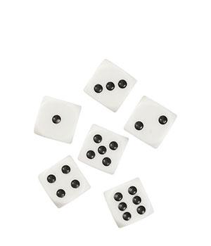 Žaidimo kauliukai (6 vnt.)