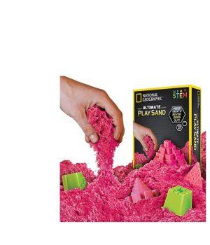Kinetinis smėlis su formelėmis (žėrintis rožinis)