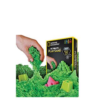 Kinetinis smėlis su formelėmis (žalias)
