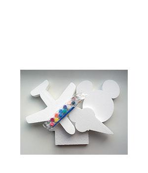 Kūrybinis rinkinukas: 2 vnt. pustplasčio formų ir mini guašas