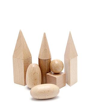 Montessori medinės geometrinės figūros