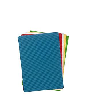 Įvairių spalvų gofro popierius (10 vnt.)