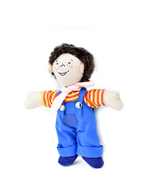 Goki skudurinis berniukas su drabužėliais (6 deriniai)