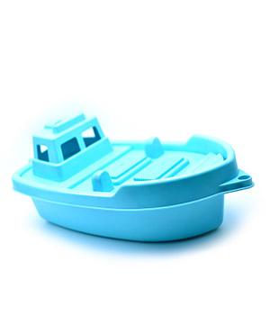 Ryškus plastikinis laivas siužetiniams žaidimams