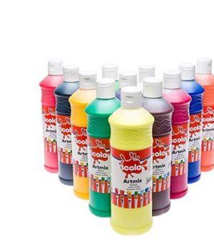Guašiniai dažai (12×600 ml)