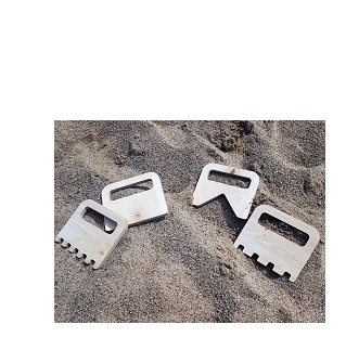 Smėlio mentelės (4 vnt.)