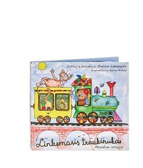"""""""Linksmasis traukinukas"""" CD + spalvų, raidžių, skaičių žaidimas"""