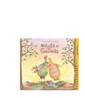 """""""Vištytė ir gaidelis"""" CD + išlankstomas namukas + knygelė su dainelių žodžiais."""