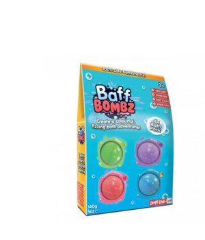 Zimpli Kids BAFF BOMBZ 4 Skirtingų vonios bombų rinkinys 140g