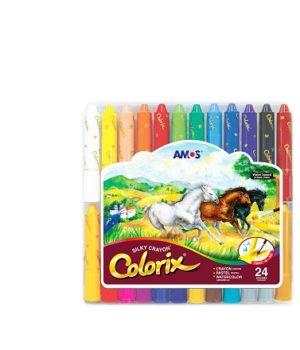 Colorix šilkinės kreidelės (24 vnt.)