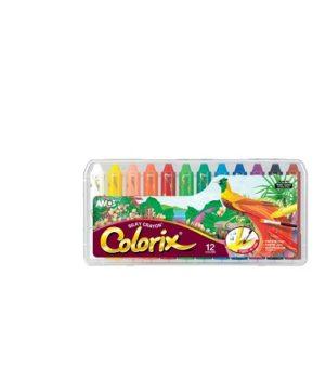 Colorix šilkinės kreidelės (12 vnt.)