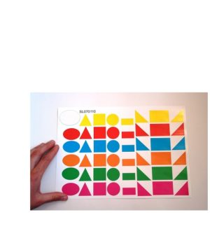 """Lipdukų rinkinys """"Geometrinės figūros"""" (A4)"""