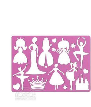 "Trafaretas ""Princesės"" (A4)"
