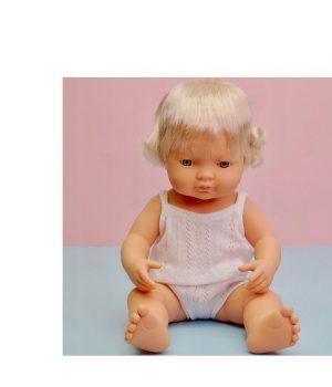 Miniland mergaitė šviesiaplaukė (38 cm)
