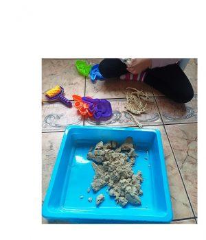 """Kinetinio smėlio rinkinys """"Dinozaurai"""""""
